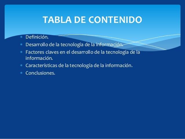 Tecnologia de la informacion for Todo tecnologia