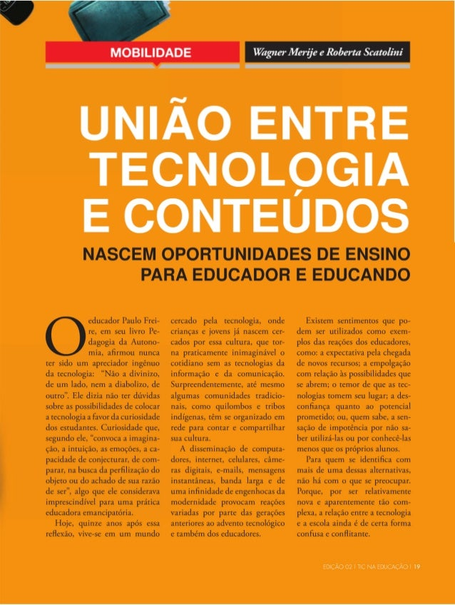 Tecnologia e conteudos