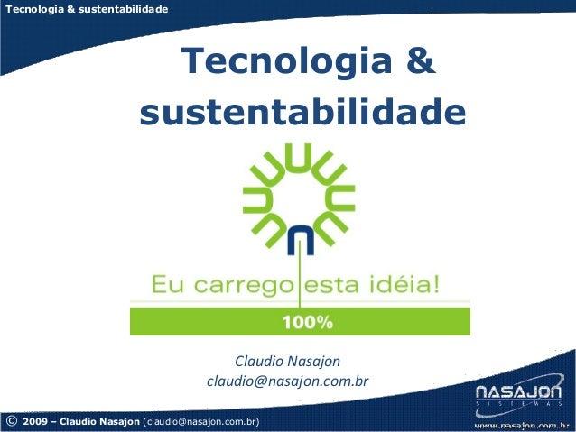 Tecnologia & sustentabilidade                             Tecnologia &                           sustentabilidade         ...