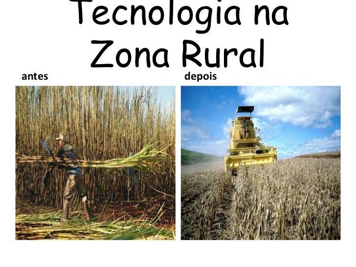 Tecnologia naantes         Zona Rural              depois
