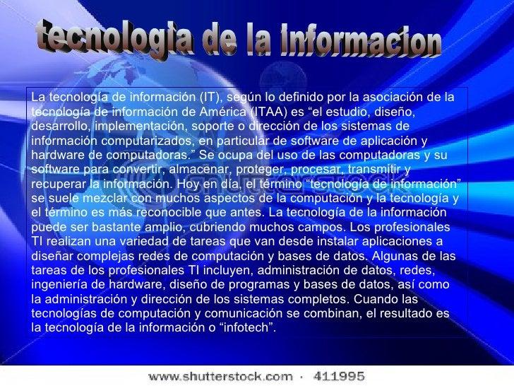Tecnologias de la informacion 1 for Todo tecnologia