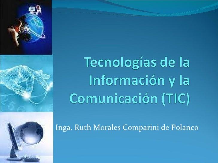 Inga. Ruth Morales Comparini de Polanco