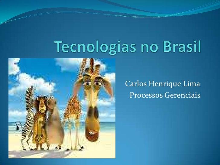 Carlos Henrique Lima  Processos Gerenciais