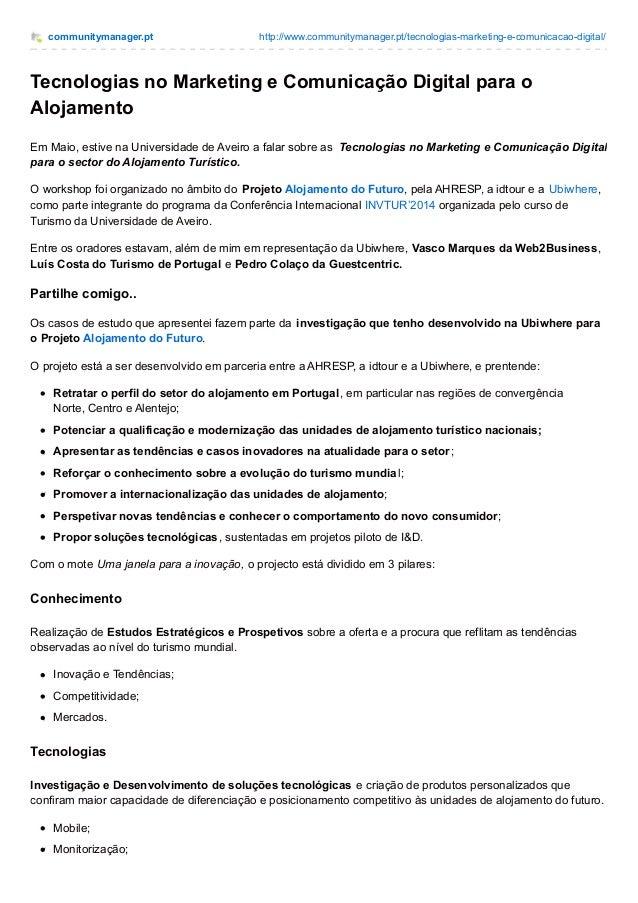 communitymanager.pt http://www.communitymanager.pt/tecnologias-marketing-e-comunicacao-digital/ Tecnologias no Marketing e...
