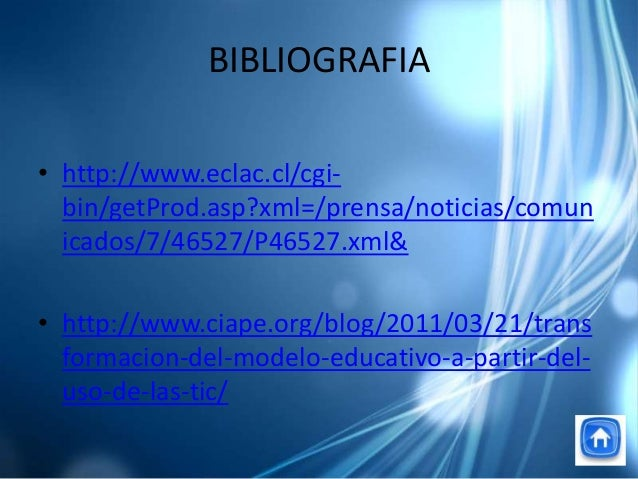 BIBLIOGRAFIA• http://www.eclac.cl/cgi-bin/getProd.asp?xml=/prensa/noticias/comunicados/7/46527/P46527.xml&• http://www.cia...