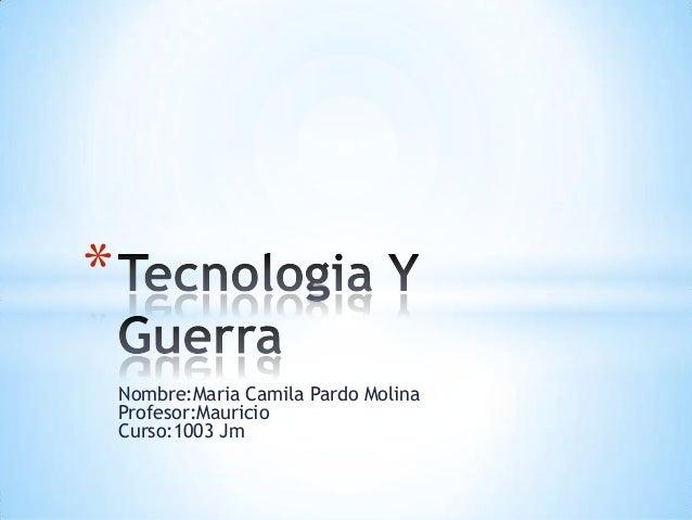 *    Nombre:Maria Camila Pardo Molina    Profesor:Mauricio    Curso:1003 Jm