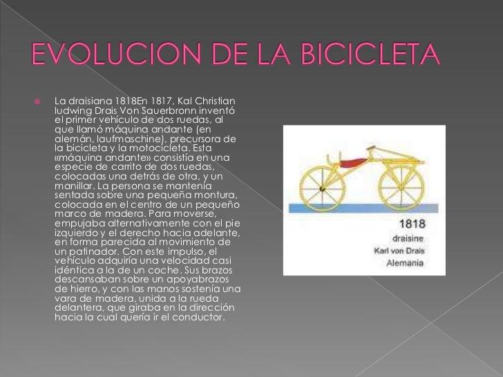 En 1830 , Ernest Michaux decidió dotarde unos pedales a la rueda delanterade una vieja draisiana. Aunque eldescubrimiento ...