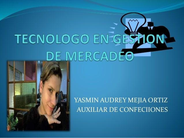 YASMIN AUDREY MEJIA ORTIZ AUXILIAR DE CONFECIIONES