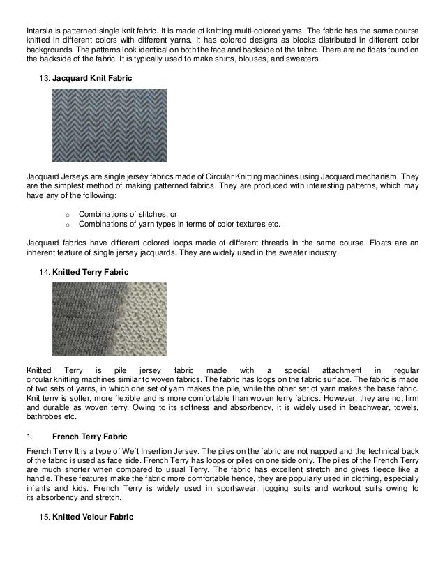 51380abebf5 Intarsia Knit Fabric; 7. Intarsia is patterned single ...