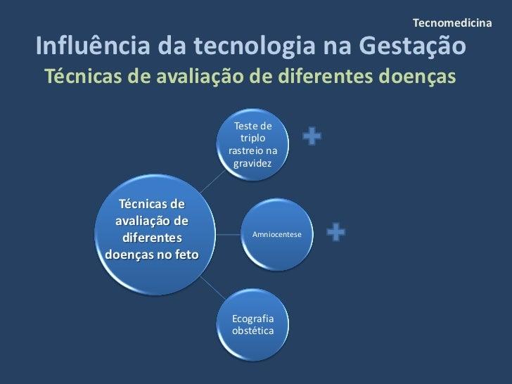 Tecnomedicina  Influência da tecnologia na Gestação Técnicas de avaliação de diferentes doenças                           ...