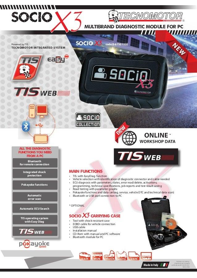 Tecnomotor Socio X3 Multibrand Diagnostic Tool EN