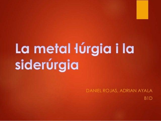 DANIEL ROJAS, ADRIAN AYALA B1D