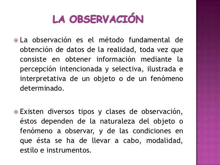 Tecnica de recogida de datos observacion