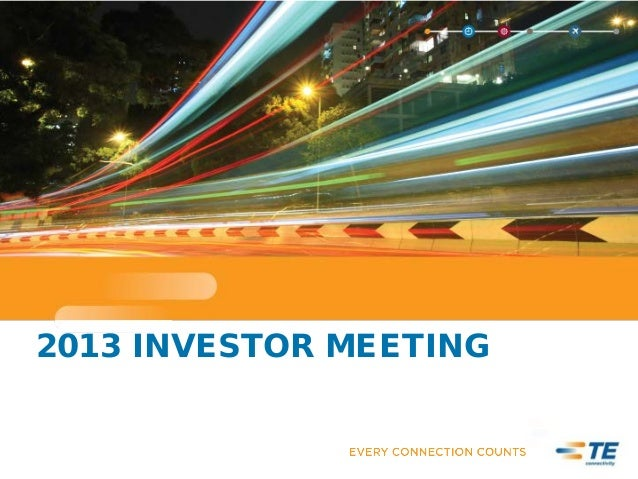 2013 INVESTOR MEETING
