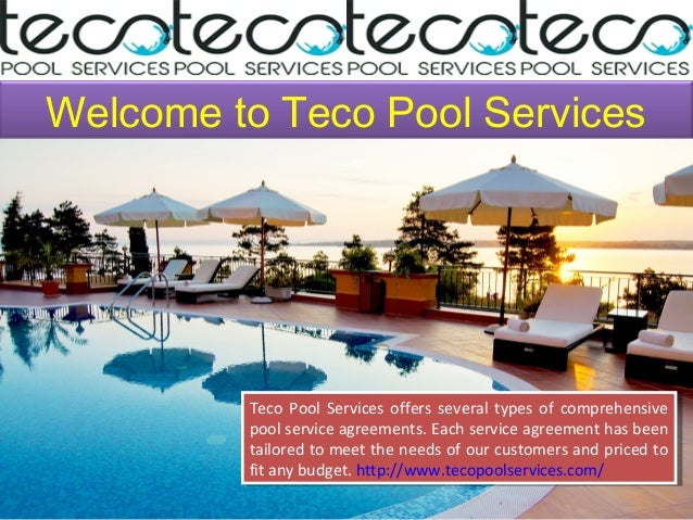 Best Pool Maintenance Service By Teco Pool Services