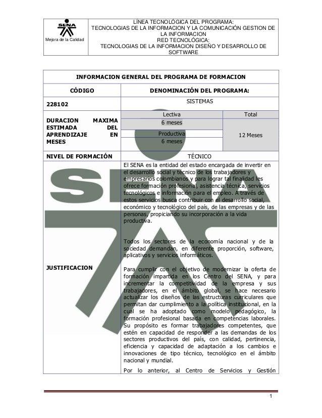 Mejora de la Calidad LÍNEA TECNOLÓGICA DEL PROGRAMA: TECNOLOGIAS DE LA INFORMACION Y LA COMUNICACIÓN GESTION DE LA INFORMA...