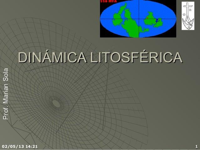 Prof.MarianSolaProf.MarianSola02/05/13 14:21 11DINÁMICA LITOSFÉRICADINÁMICA LITOSFÉRICA