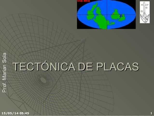 Prof.MarianSolaProf.MarianSola 15/05/14 05:45 11 TECTÓNICA DE PLACASTECTÓNICA DE PLACAS