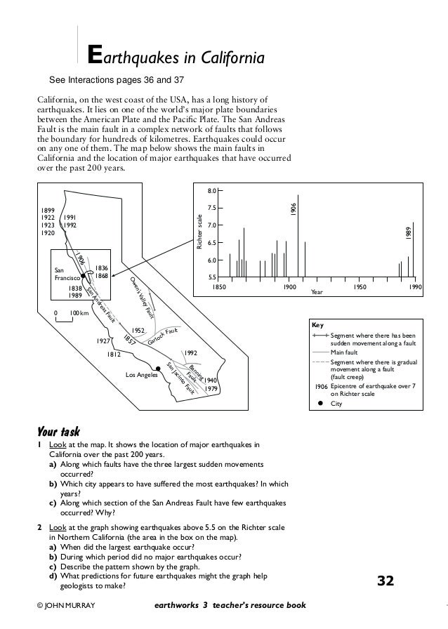 Earthquakes And Volcanoes Worksheets Sharebrowse – Earthquake Worksheets