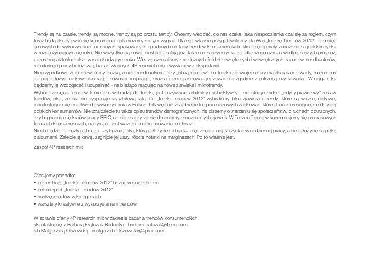 Teczka Trendow 2012 4P research mix Slide 2