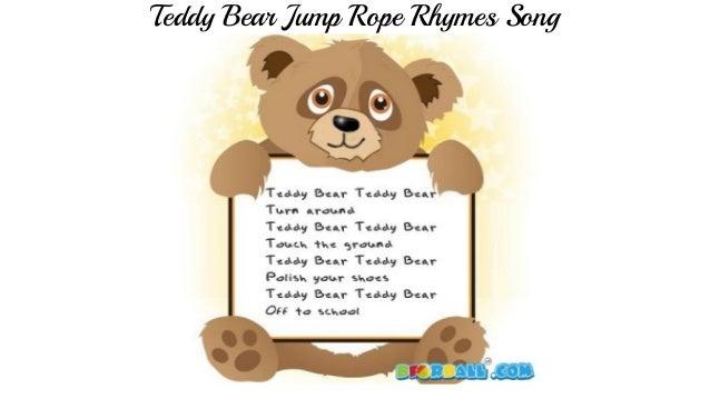 Teddy Bear Jump Rope Rhymes Song