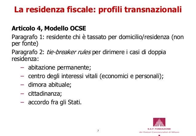 Trattamento fiscale e contributivo dei lavoratori italiani all 39 estero - Domicilio e residenza diversi ...