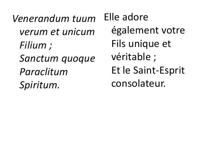 Tu rex gloriae, Christe. Tu Patris sempiternus es Filius. Tu, ad liberandum suscepturus hominem, non horruisti Virginis ut...