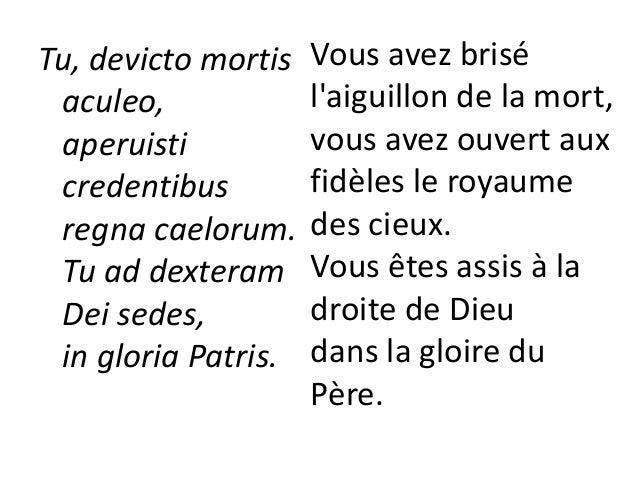 Iudex crederis esse venturus. Te ergo quaesumus, tuis famulis subveni, Quos pretioso sanguine redemisti Nous croyons que v...