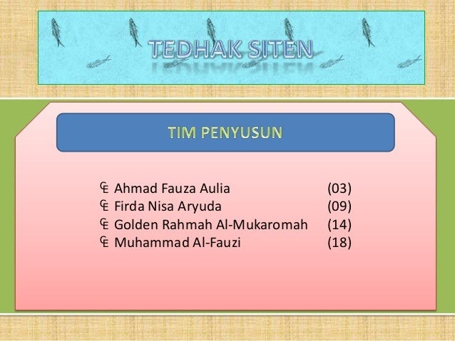 ₠   Ahmad Fauza Aulia            (03)₠   Firda Nisa Aryuda            (09)₠   Golden Rahmah Al-Mukaromah   (14)₠   Muhamma...