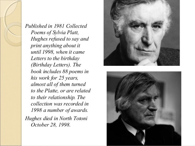Ted Hughes Birthday Letters 1st 1/14 Very Good HARDBACK w/ jacket - Sylvia Plath