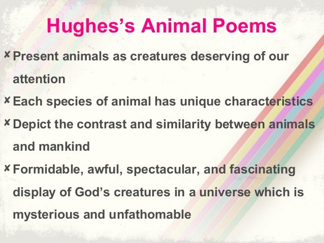 Ted Hughes S Animal Imagery