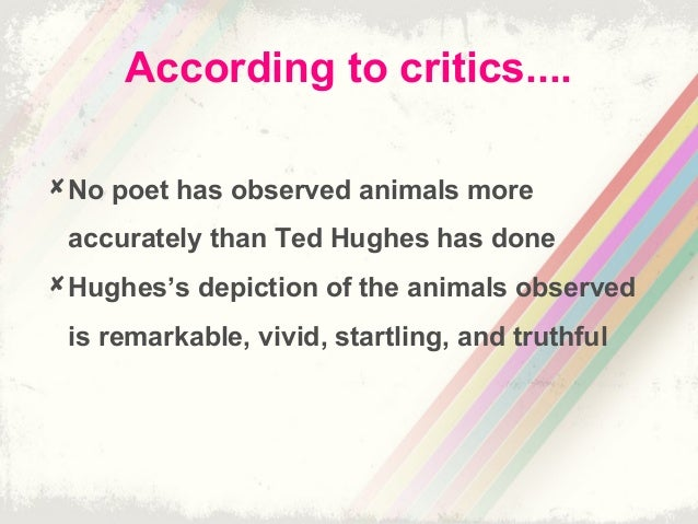 animal imagery in ted hughes poetry