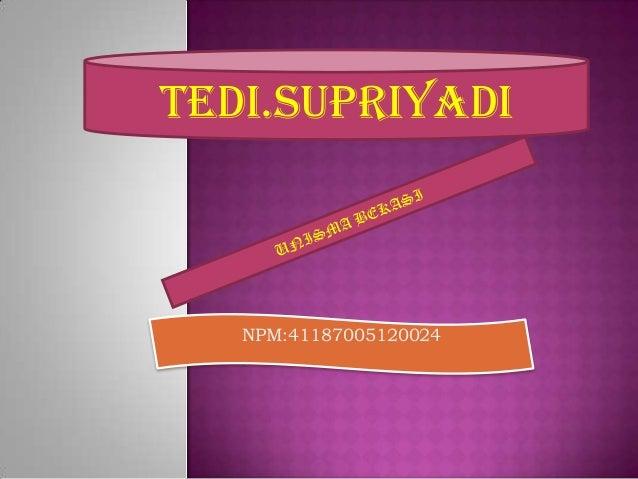 TEDI.SUPRIYADI   NPM:41187005120024