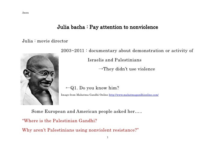 Anzu                 Julia bacha : Pay attention to nonviolenceJulia : movie director                   2003~2011 : docume...