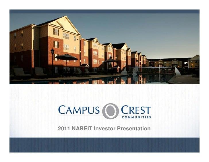 2011 NAREIT Investor Presentation                                        August 20100