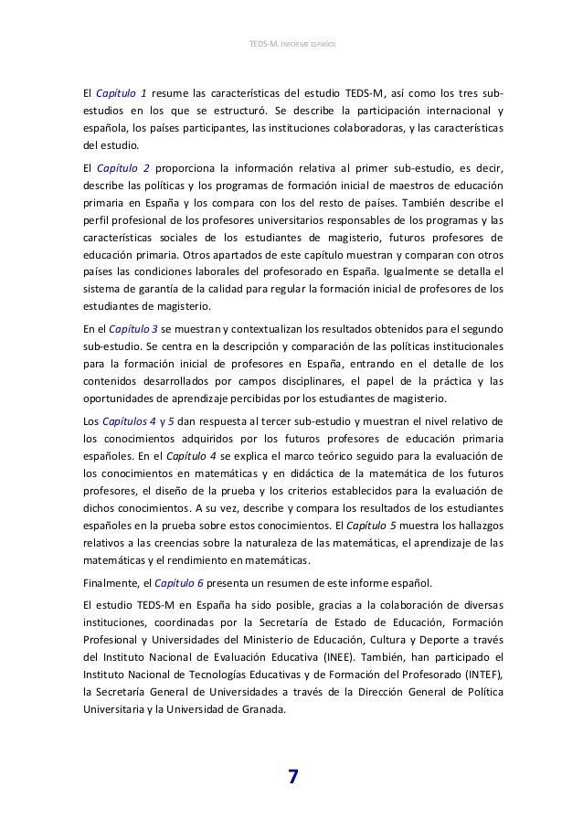 TEDS-M (IEA) estudio internacional sobre la formación inicial en mate…