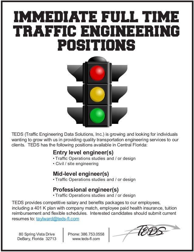 Hiring Civil Engineers in the Central Florida area.