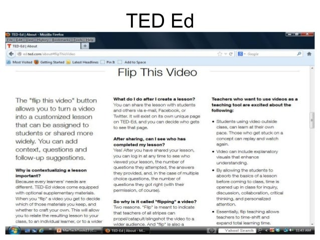 Using ted ed sophia and khan academy to flip your classroom 10 ccuart Image collections