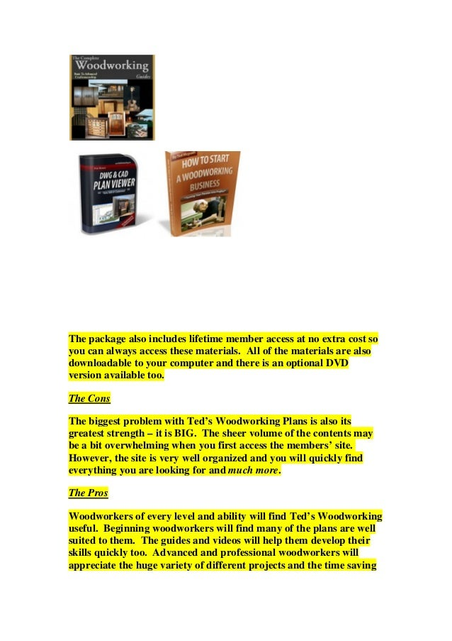 Teds woodworking--16,000 woodworking plans--free ebooks ...