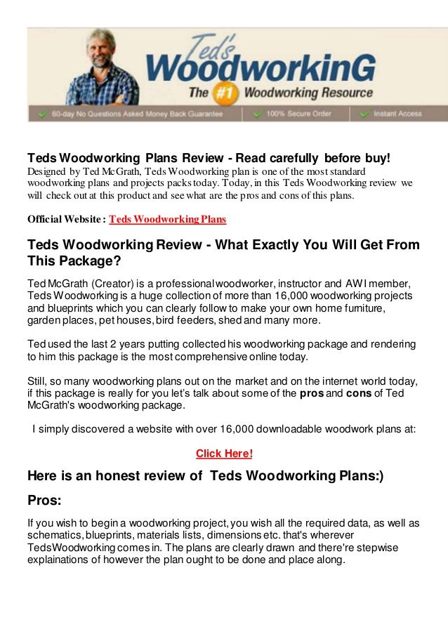 Teds Woodworking Lessons And Resources