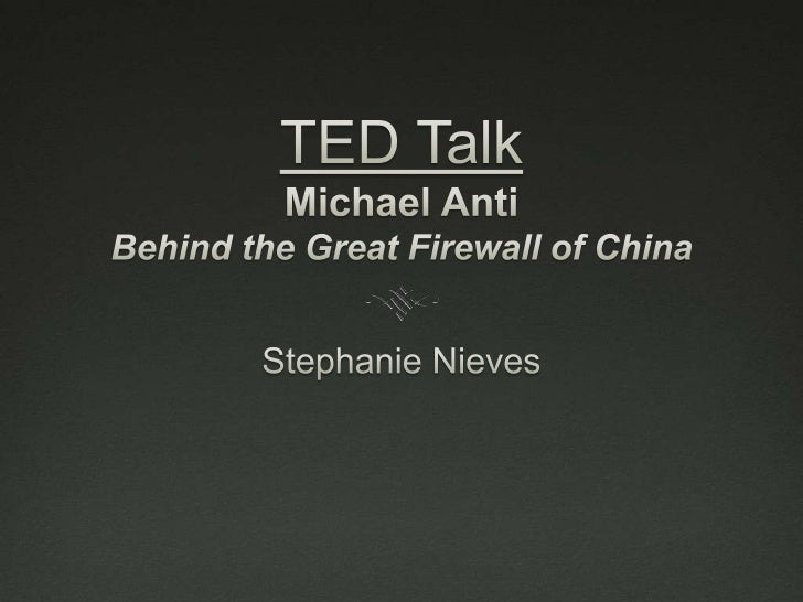 """Speaker & ThesisMichael Anti is a journalist from Beijing who explainswhat kind of """"Internet"""" that the Chinese have and ho..."""