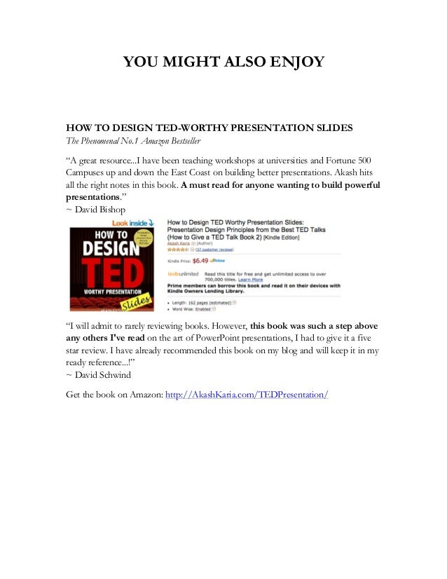 Ted talks   best ted talks with links to the videos Slide 3