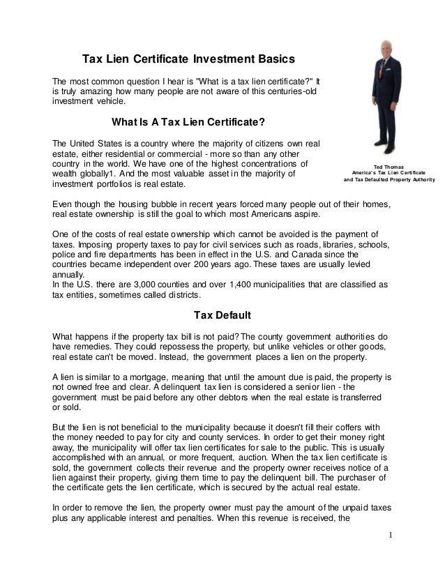 tax lien articles