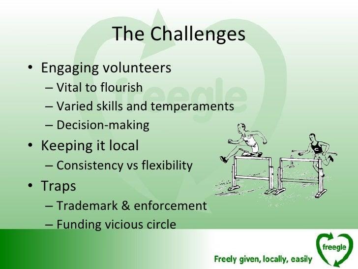 <ul><li>Engaging volunteers </li></ul><ul><ul><li>Vital to flourish </li></ul></ul><ul><ul><li>Varied skills and temperame...