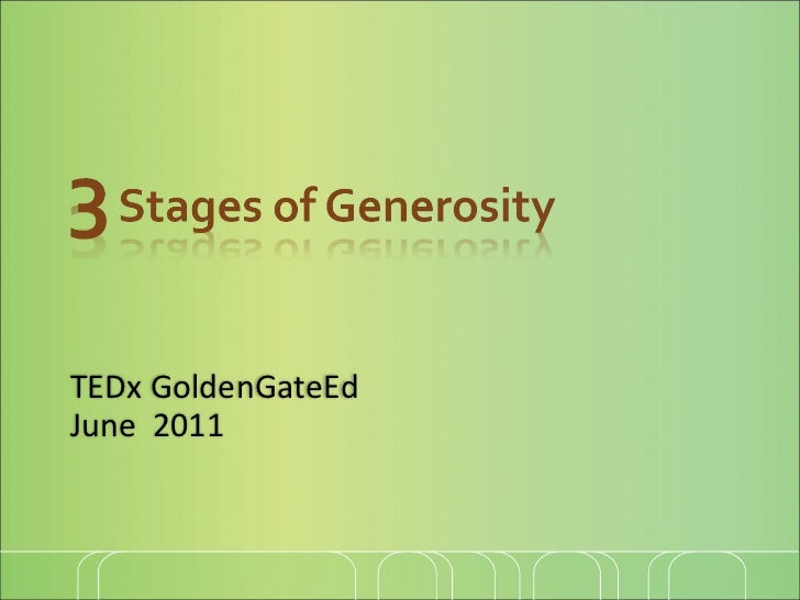 TEDx GoldenGateEd June  2011