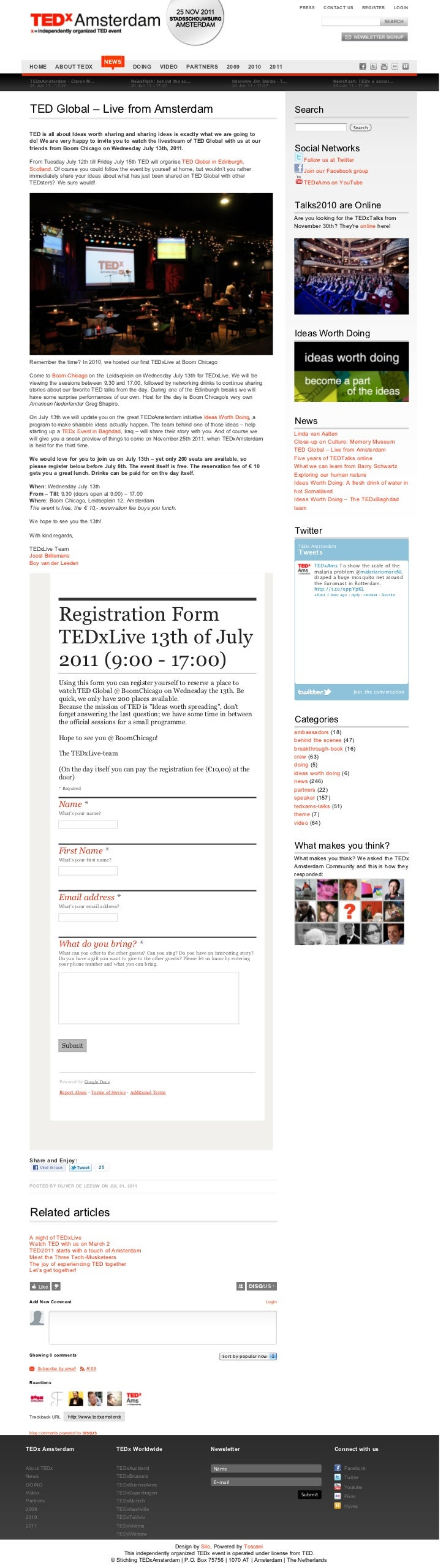 PRESS     CONTACT US           REGISTER          LOGIN                                       NEWS HOME          ABOUT TEDX...