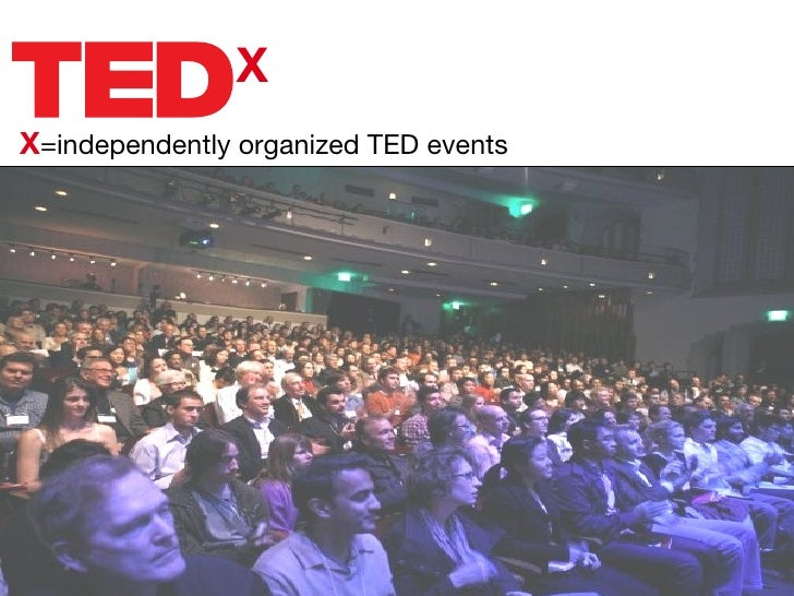 X X =independently organized TED events
