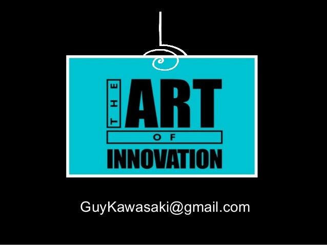 The Art of Innovation--TedXBerkeley 2014