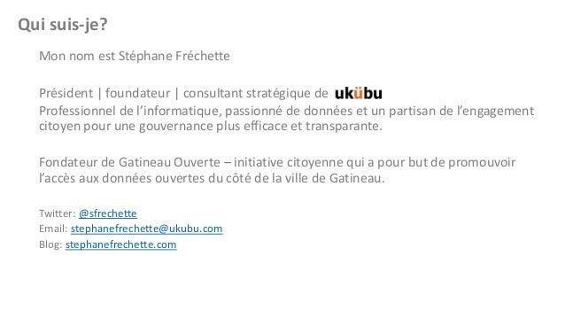 Qui suis-je? Mon nom est Stéphane Fréchette  Président | foundateur | consultant stratégique de Professionnel de l'informa...