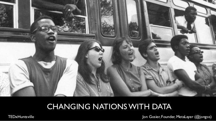 CHANGING NATIONS WITH DATATEDxHuntsville                      Jon Gosier, Founder, MetaLayer (@jongos)
